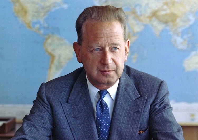 Photo: Will Dag Hammarskjöld serve as a model for the new UN Secretary-General? Credit: UN/DPI derivative work - 1959. Wikimedia Commons.