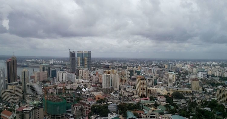 Dar es Salaam ('The Abode of Peace') city skyline. Credit: Ali Damji | Wikimedia Commons.