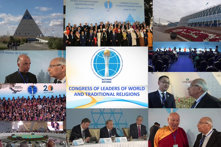 A collage of photos from the 6th Congress of the Leaders of World and Traditional Religions October 10-11, 2018 in Astana, Kazakhstan. Credit: Katsuhiro Asagiri | IDN-INPS Multimedia Director