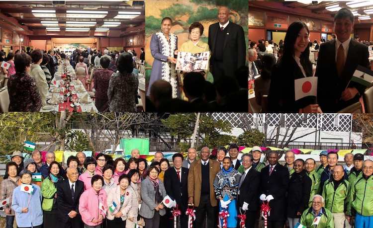 Photo: Collage of photos from the Banquet and their majesty's visit to Fukushima.