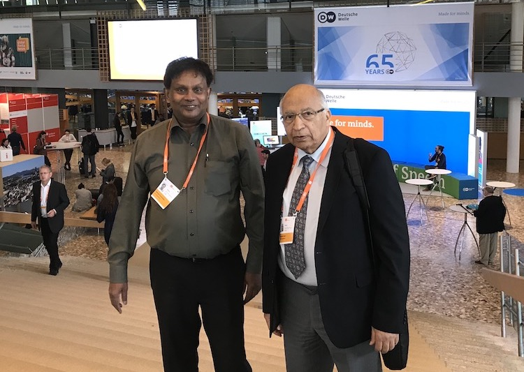 Photo (left to right): Kalinga Seneviratne and Ramesh Jaura. Credit: INPS